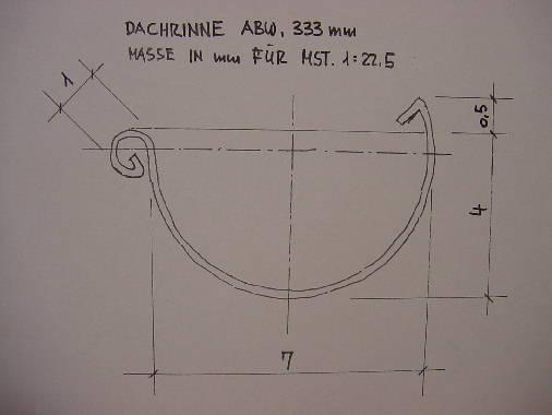 nachbildung von dachrinnen und fallrohren. Black Bedroom Furniture Sets. Home Design Ideas